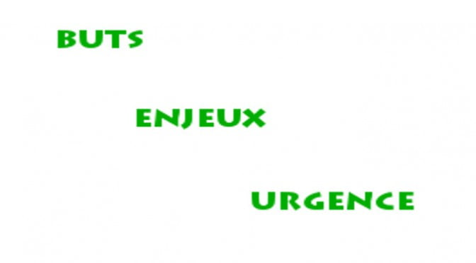 BUTS, ENJEUX & URGENCE