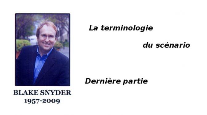 Blazke Snyder : Terminologie du scénario
